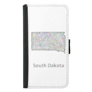 South Dakota map Wallet Phone Case For Samsung Galaxy S5