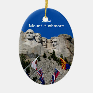 South Dakota Mount Rushmore Ceramic Ornament