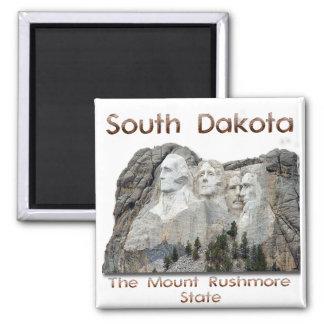 South Dakota Mount Rushmore 2 Inch Square Magnet