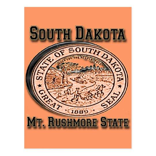 South Dakota Mount Rushmore State Seal Postcard
