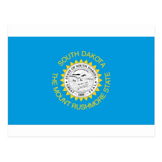South Dakota  Official State Flag Postcard
