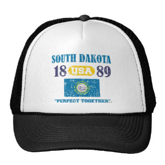 SOUTH DAKOTA PERFECT TOGETHER DISTRESSED PRODUCTS TRUCKER HAT