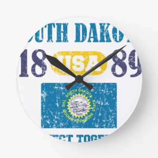 SOUTH DAKOTA PERFECT TOGETHER DISTRESSED PRODUCTS ROUND CLOCK