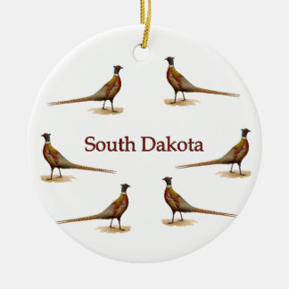 South Dakota Pheasants Ceramic Ornament