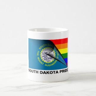 South Dakota Pride LGBT Rainbow Flag Classic White Coffee Mug