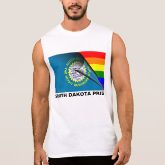 South Dakota Pride LGBT Rainbow Flag Sleeveless Tee