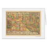 South Dakota Railroad Map 1892 Greeting Card