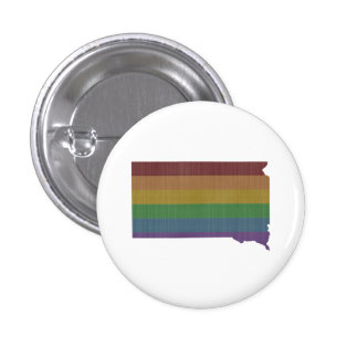 South Dakota Rainbow Gay Pride Pinback Button