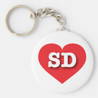 South Dakota Red Heart - Big Love Keychain