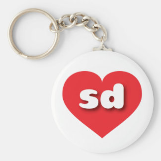 South Dakota red heart - mini love Keychain