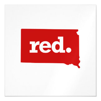 SOUTH DAKOTA RED STATE MAGNETIC CARD