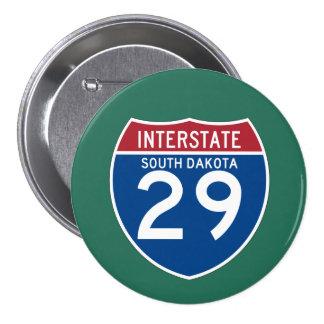 South Dakota SD I-29 Interstate Highway Shield - Button