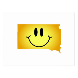 South Dakota Smiley Face Post Card