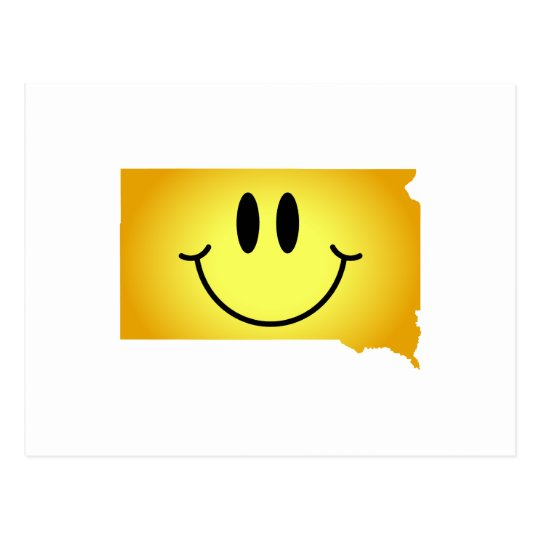 South Dakota Smiley Face Postcard
