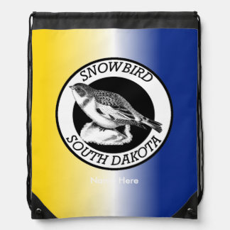 South Dakota Snowbird Shield Drawstring Bag