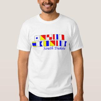 South Dakota spelled in nautical flag alphabet Tee Shirt