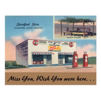 South Dakota, Stamford Store, Stamford Post Card