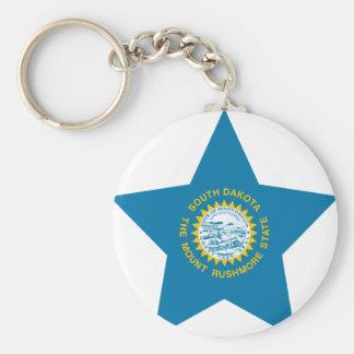 South+Dakota Star Keychain