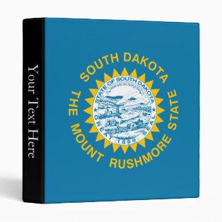 South Dakota State Flag 3 Ring Binder