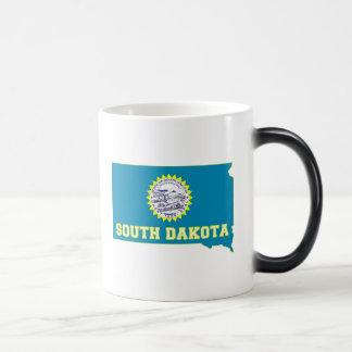South Dakota State Flag and Map Magic Mug