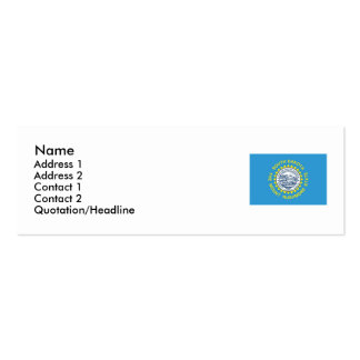 South Dakota State Flag Double-Sided Mini Business Cards (Pack Of 20)