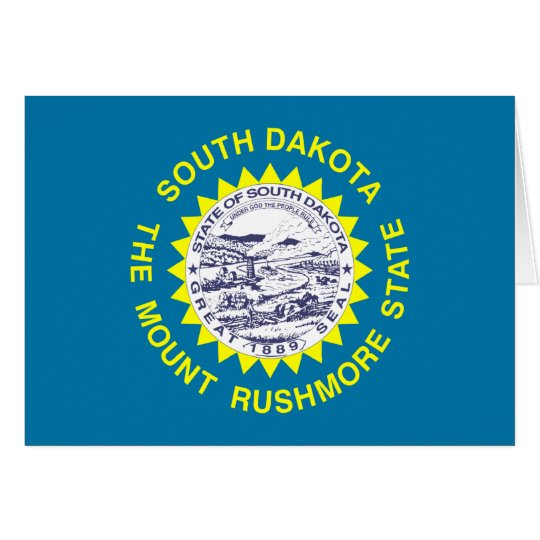 South Dakota State Flag Card