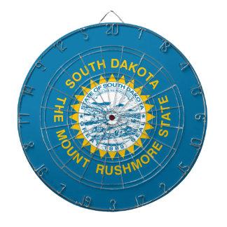 South Dakota State Flag Dartboard With Darts