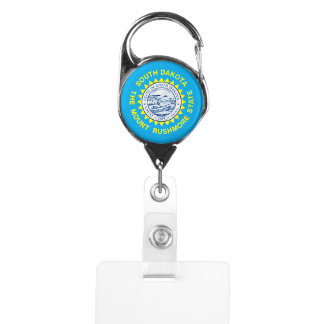 South Dakota State Flag Design Badge Holder