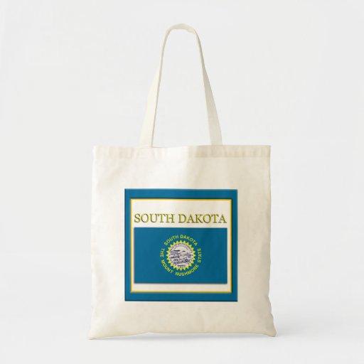 South Dakota State Flag Design Budget Canvas Bag