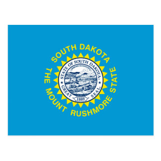 South Dakota State Flag Design Postcard