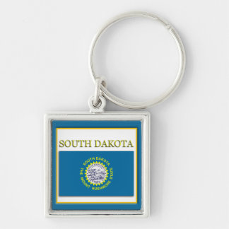 South Dakota State Flag Design Premium Keychain