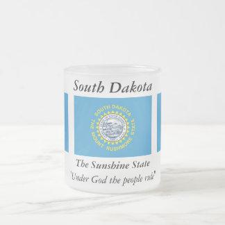 South Dakota State Flag Frosted Glass Coffee Mug