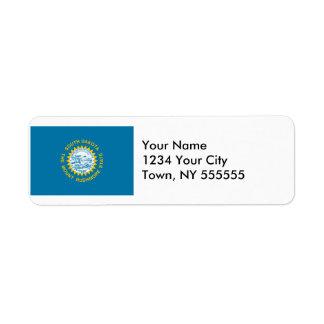 South Dakota State Flag Return Address Labels