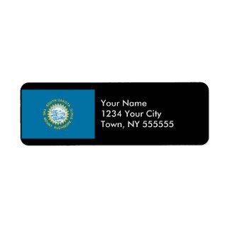 South Dakota State Flag Custom Return Address Label