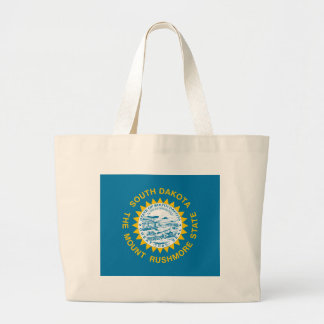 South Dakota State Flag Large Tote Bag