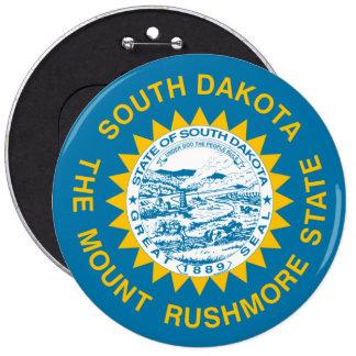 South Dakota State Flag Pinback Button
