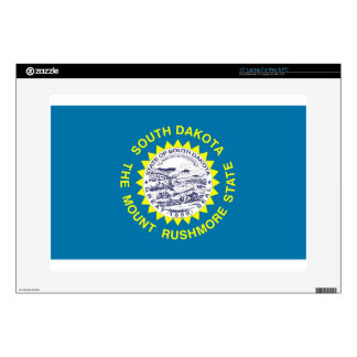 "South Dakota State Flag Decal For 15"" Laptop"