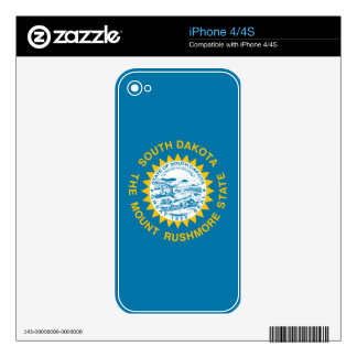 South Dakota State Flag Decals For iPhone 4