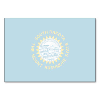 South Dakota State Flag Table Card