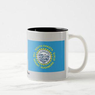South Dakota State Flag Two-Tone Coffee Mug