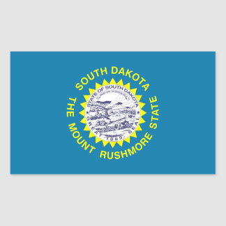 South Dakota State Flag, United States Rectangular Sticker