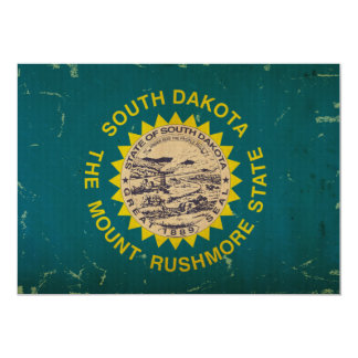 South Dakota State Flag VINTAGE Card