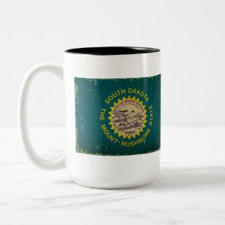 South Dakota State Flag VINTAGE Two-Tone Coffee Mug