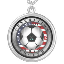 South Dakota State Generation X American Soccer Silver Plated Necklace