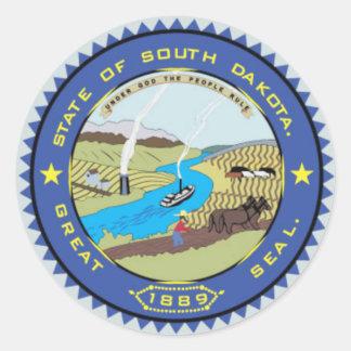 South Dakota State Seal Classic Round Sticker