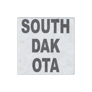 South Dakota Stone Magnet