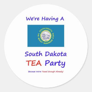 South Dakota TEA Party - Taxed Enough Already! Classic Round Sticker
