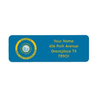 South Dakota The Mount Rushmore State Flag Label