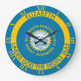 South Dakota The Mount Rushmore State Flag Large Clock
