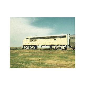 South Dakota Train Canvas Print